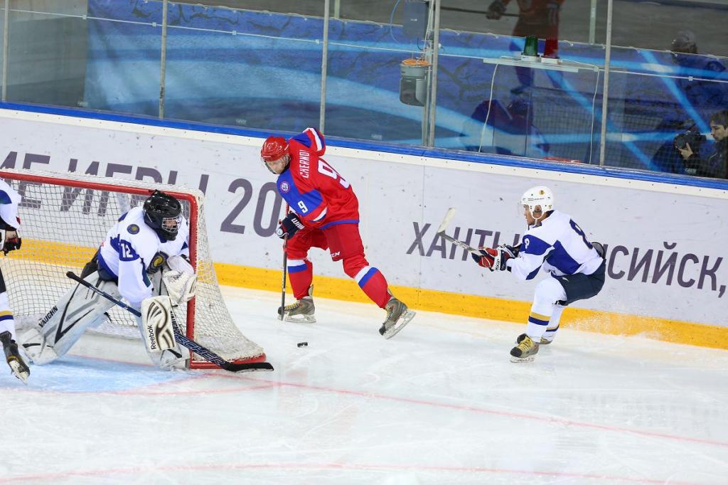 Первая победа сборной России по хоккею на Сурдлимпийских играх – 9:0 в матче с Казахстаном