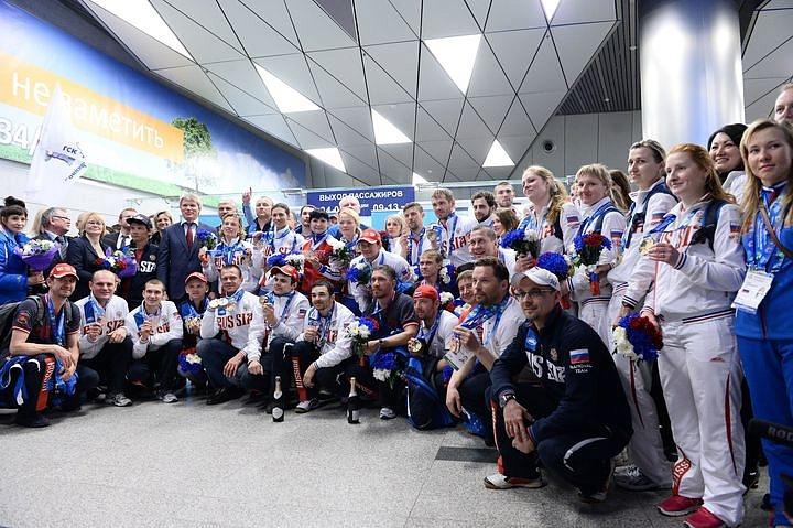Встреча сурдлимпийских чемпионов