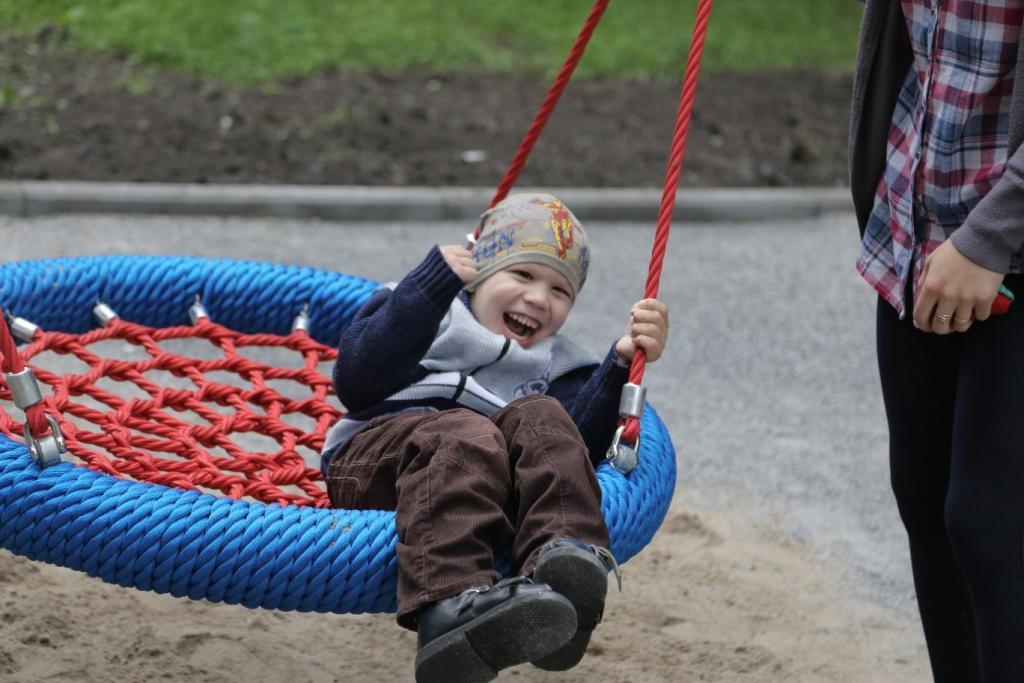В Новосибирске открыта игровая площадка для детей с особенностями развития