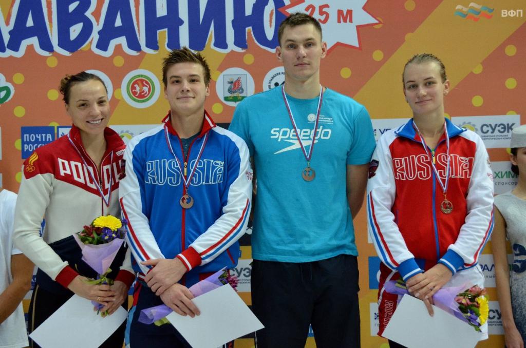 Новосибирские пловцы завоевали 5 командных медалей чемпионата России