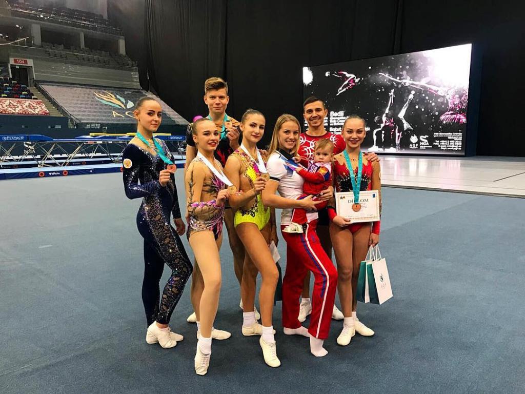 Новосибирские аэробисты завоевали «золото» Азербайджана