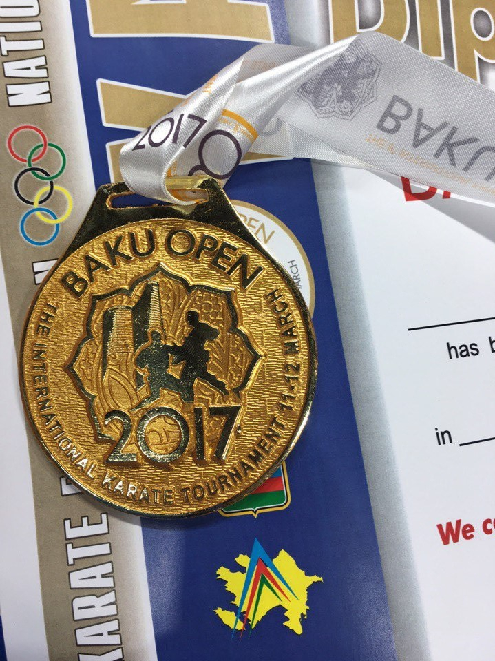 Каратист НЦВСМ стал сильнейшим на международных соревнованиях в Баку