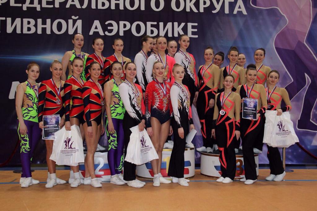 Сборная Новосибирской области по спортивной аэробике завоевала 77 медалей на чемпионате и первенстве Сибири