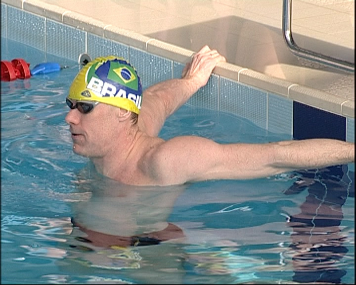 Спортсмен НЦВСМ провел урок паралимпийского спорта