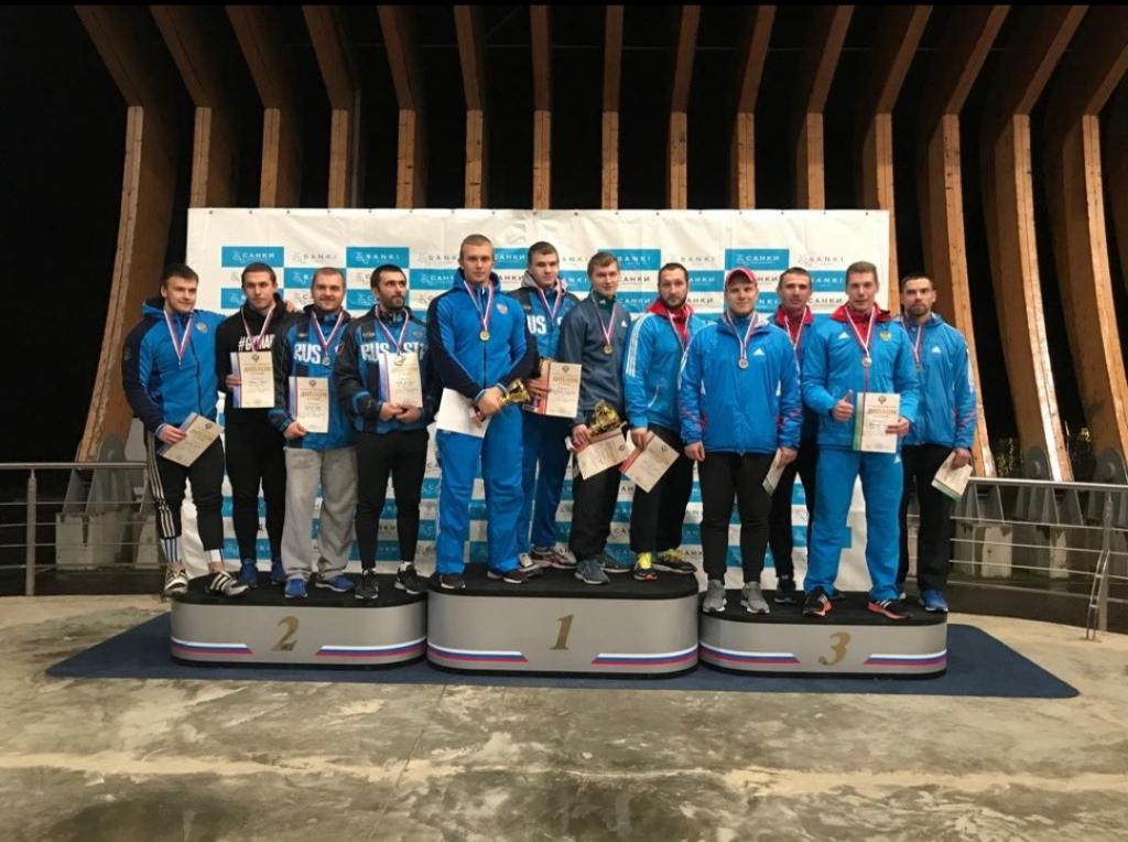 Бобслеист Михаил Мордасов завоевал три золотых медали на первенстве и Кубке России