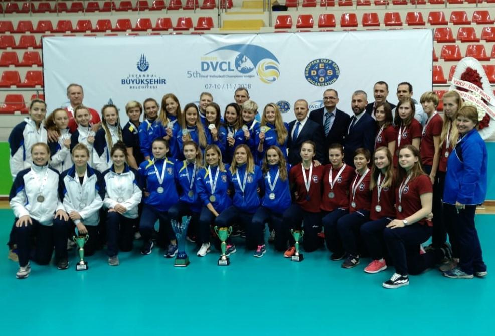 Новосибирские волейболисты с нарушениями слуха - призёры V Лиги чемпионов
