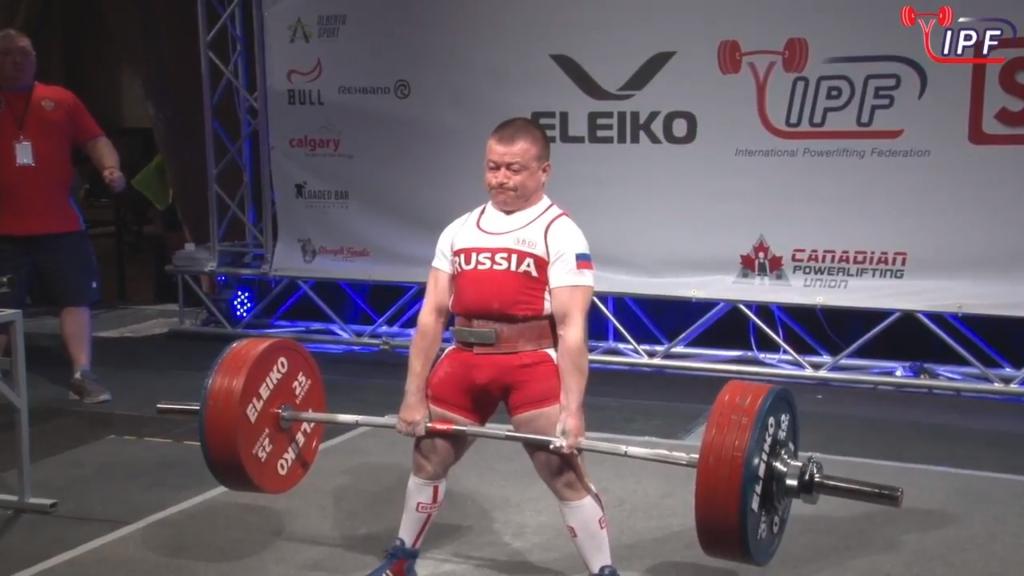 Сергей Федосиенко установил рекорд мира в становой тяге
