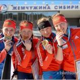 Сборная Новосибирской области выиграла женскую эстафету на чемпионате России по биатлону