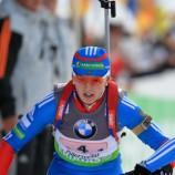 Ольга Вилухина, в составе сборной России заняла второе место в смешанной эстафете на Кубке IBU в Риднауне