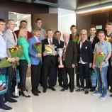 Мэр поздравил новосибирских спортсменов с победой в первенстве Европы по волейболу (спорт глухих)