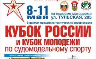 XV Кубок России по судомодельному спорту