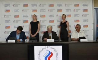 Подписаны соглашения о сотрудничестве между Олимпийским комитетом России, Олимпийским советов в Новосибирской области и профсоюзом работников оборонной промышленности