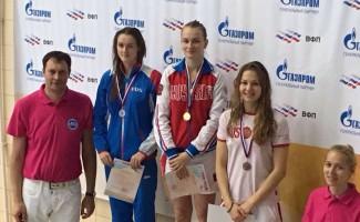 Арина Суркова стала победителем на этапе Кубке России по плаванию
