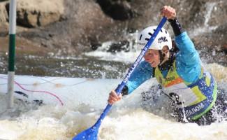 Светлана Третьякова первой преодолела трассу на бурной реке в Словении